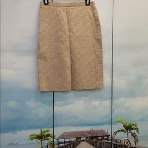 Genuine BCBG logo tan skirt